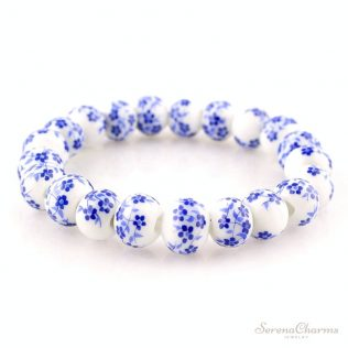 Blue And White Porcelain Beads Bracelet