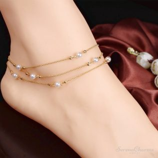 Multilayer Chains Imitate Pearl Anklet