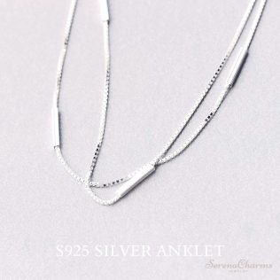 Two Layers Snake Chain Anklet