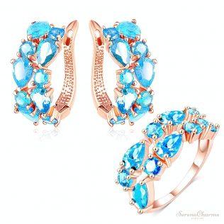 Earrings/Ring 2pcs Set
