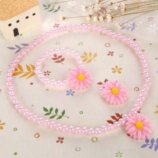 Friendly Resin Baby Flower Jewelry Set