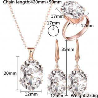 Luxury Rose Gold Jewelry Set
