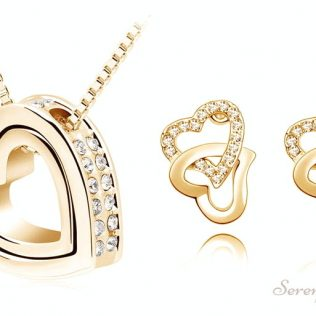 Floating Heart Jewelry Set