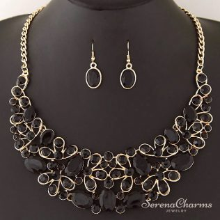 Crystal African Necklaces And Earrings Set