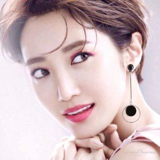 Geometric Long Asymmetry Earrings