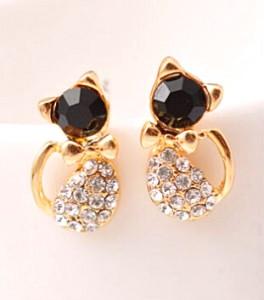 Crystal Silver Stud Earrings
