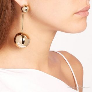 Punk Style Big Metal Beads Earrings