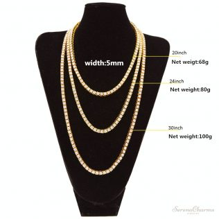 Men's Hip Hop Bling Bling Iced Out Tennis Chain Necklace