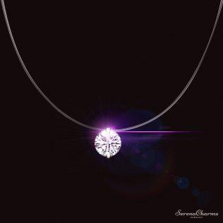 Silver Color Dazzling Zircon Necklace