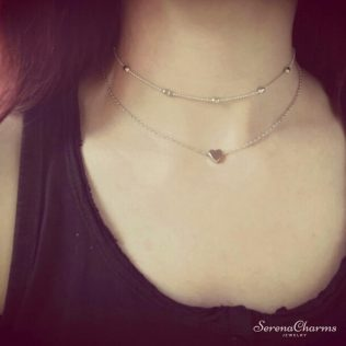 Silver/Gold Color Love Necklace