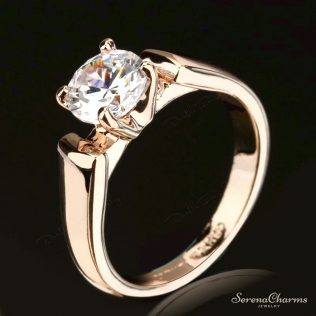 1.25 Carat Round Cut Cubic Zircon Engagement Ring