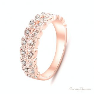 Classical Cz Crystal Wedding Ring