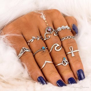 10 Pcs/Set Bohemian Vintage Ring