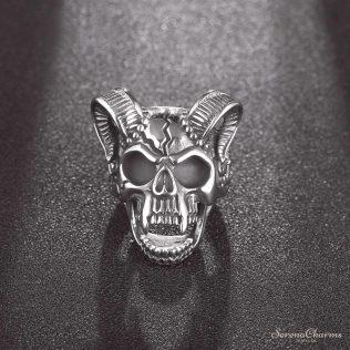 Vintage Goat Skull For Man Gothic Sport Biker Male Rings