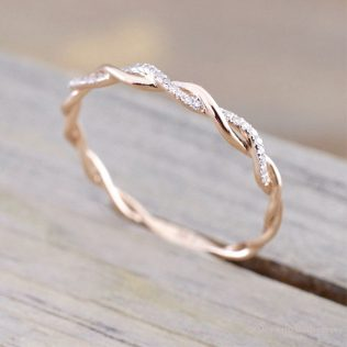 Trendy Gold/Rose Gold Color Twist Ring