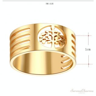 Stainless Steel Wisdom Tree Tree Of Life Ring