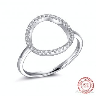 Hollow Out, Cubic Zirconia Rings