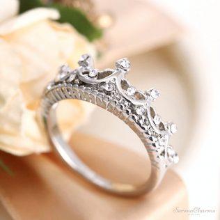 Queen's Silver Crown Rings
