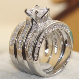 925 Sterling Silver White Rings