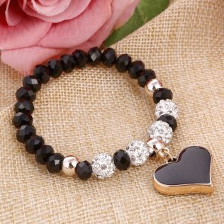 Romantic Vintage Bracelets With Crystal Shambhala Beads Fit