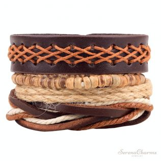 1set (3-4pcs) Leather Bracelet