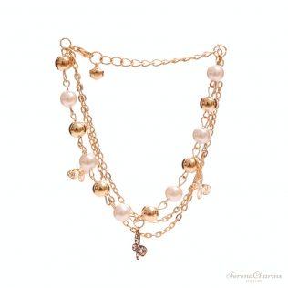 Gold Color Beaded Pendant Bracelets