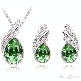 Jewelry Set Crystal Earring Necklace Pendant