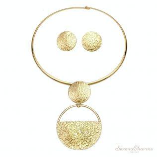 Gold-Color Geometric Metal Fashion Jewelry Set