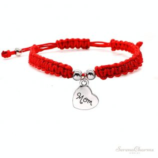 I Love You Mom Red Thread Bracelet