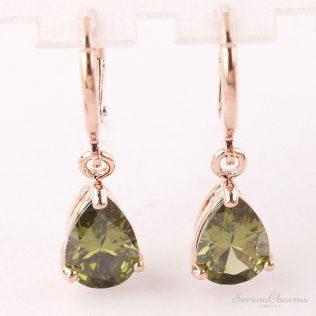 Rose Gold Color Drop Earrings