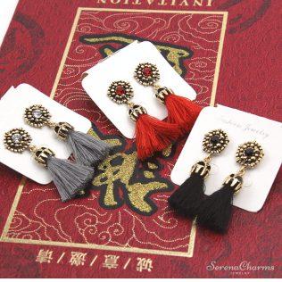 Ancient Long Tassel Earrings