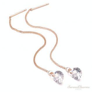 Gold Color Long Tassel Dangle Earrings