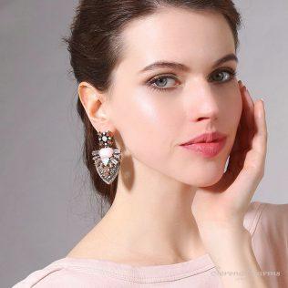 Geometric Crystal Earrings For Women