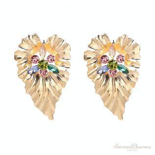 Alloy Leaf Dangle Earrings