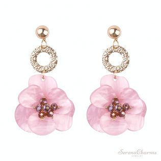 Resin Acrylic Flower Earrings
