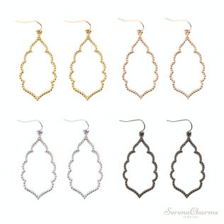 Filigree, Teardrop, Hexagon Earrings For Women