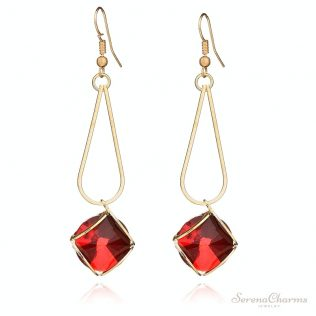Geometric Glass Earrings