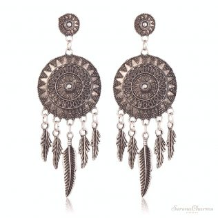 Vintage Dream Catcher Dangle Earrings
