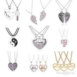 Broken Heart 2pcs And 3pcs A Set Pendant Necklace