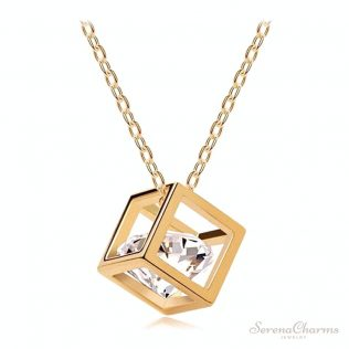 Geometric Cubes Zircon Necklace