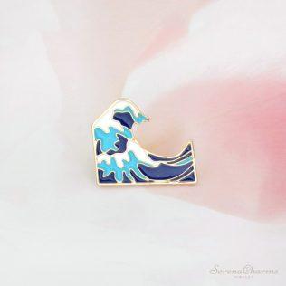 Blue Waves Brooch Enamel Pin