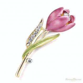 Elegant Tulip Flower Brooch