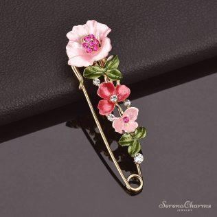 Flower Rhinestone Brooch Jewelry