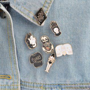 7pcs/Set Goth Punk Pins