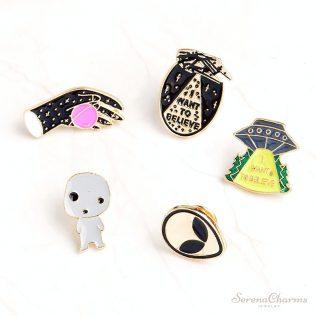 Ufo Alien Enamel Pins