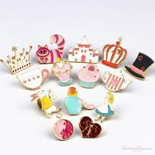 Alice In Wonderland Enamel Pins