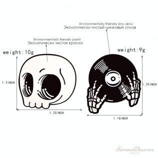 Skeleton Halloween Pin