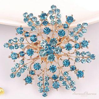 Crystal Rhinestones Flower Fashion Brooch