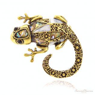 Vintage Vivid Lizard Brooch