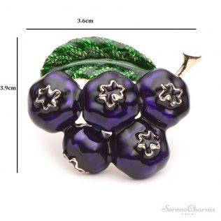 Enamel Blueberry Brooch
